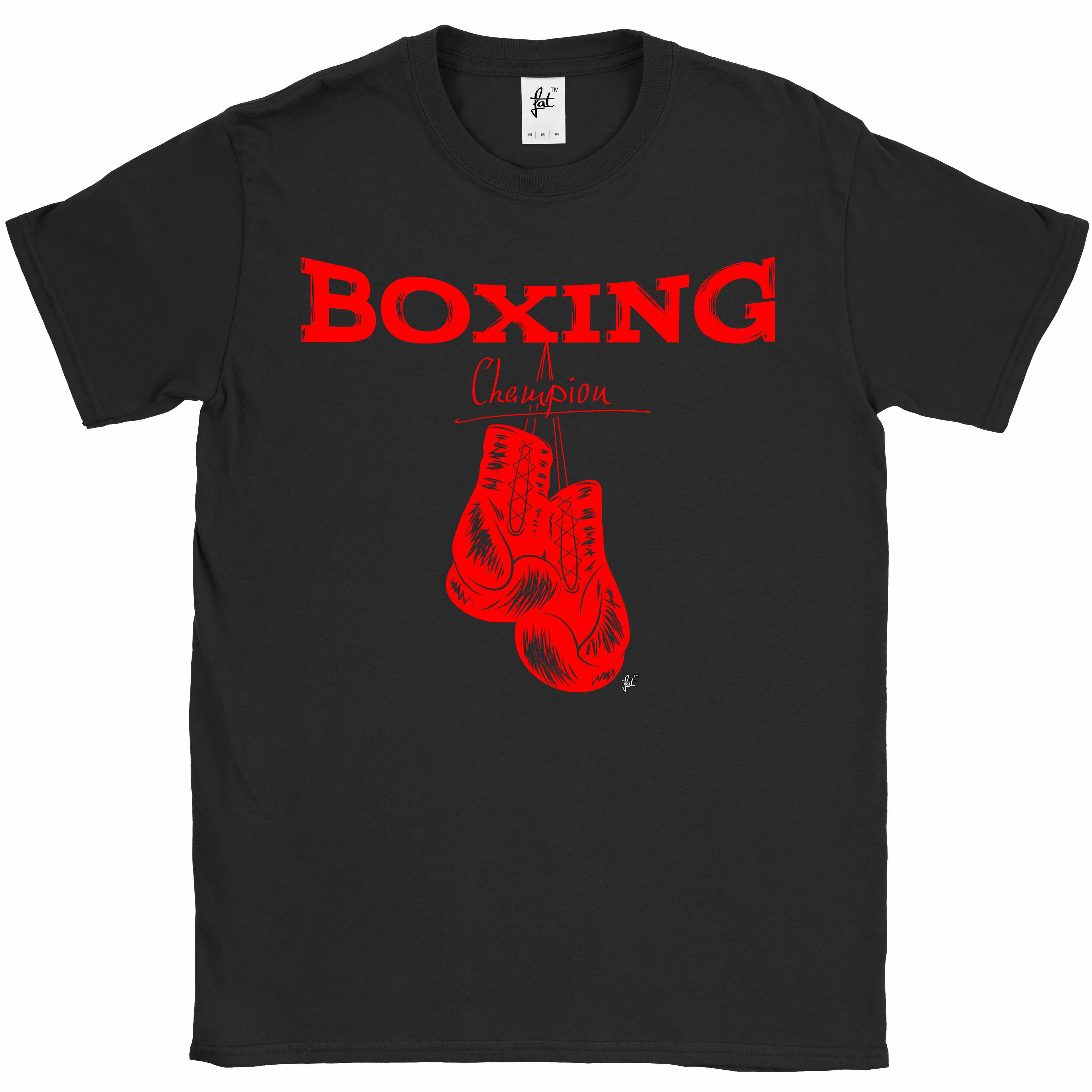 Boxing-Champion-Red-Gloves-Sports-Mens-T-Shirt